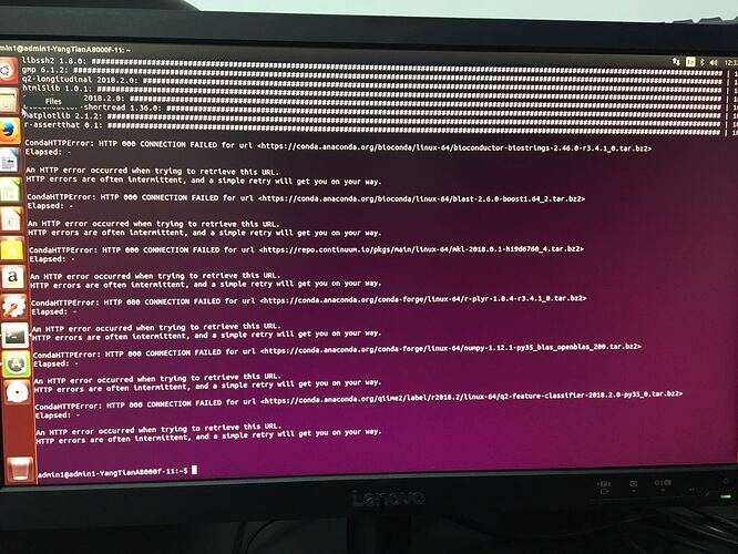 Troubles with QIIME2 installation on linux - User Support