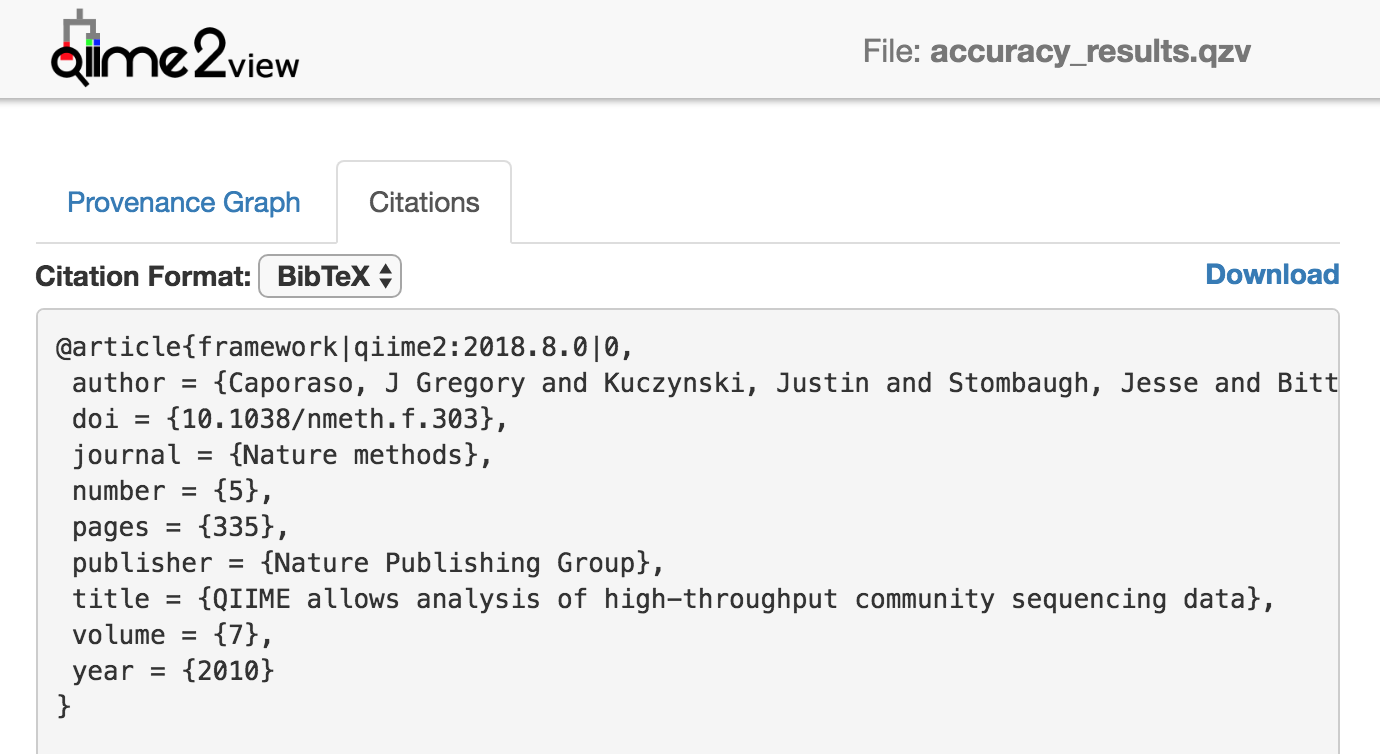 QIIME 2 method section for publication - User Support